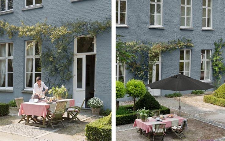 Meer dan 1000 idee n over buitenkant huis verven op pinterest huis verfkleuren verf - Grijze verf leisteen ...