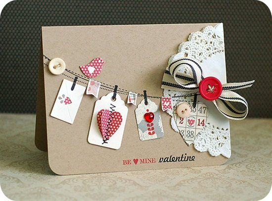 Paper Projects by Angela: Valentines's Day cards rose
