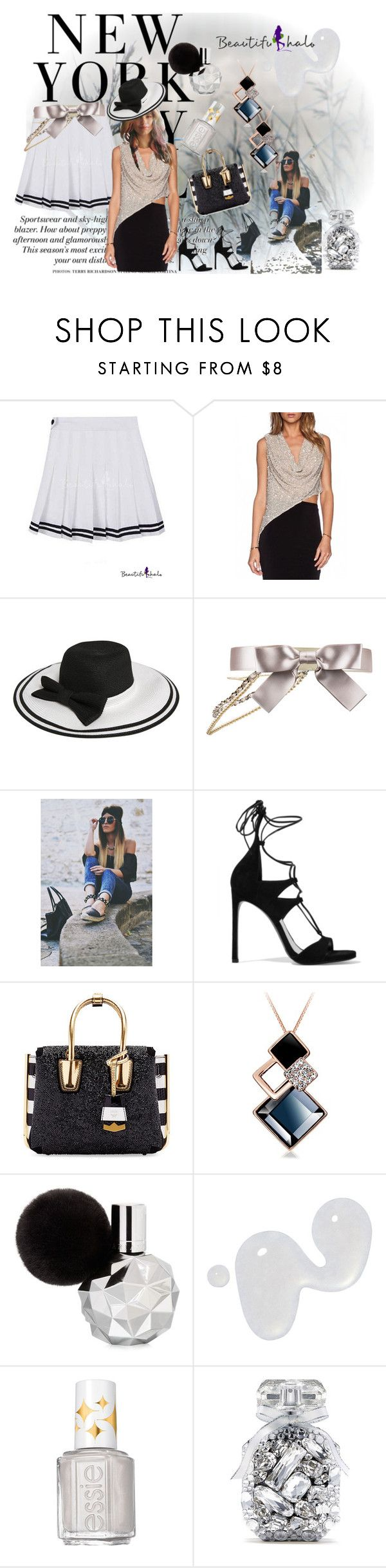 """bh"" by irinavsl ❤ liked on Polyvore featuring H&M, Chanel, Stuart Weitzman, MCM, Illamasqua, Essie and Victoria's Secret"