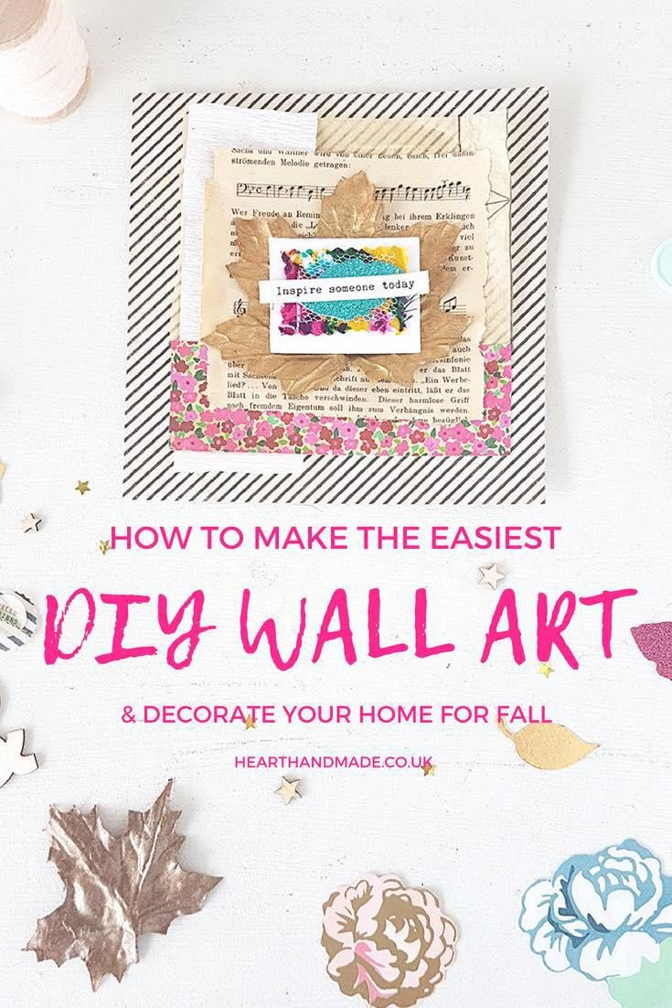 Do You Love Making DIY Wall Art Or Decorating Your Home Every Season Celebrate Fall With This Super Simple Scrapbook Layout Insanely Easy