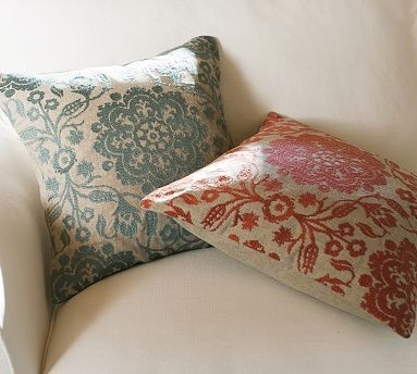 Emma Medallion Embroidered Pillow Cover #potterybarn