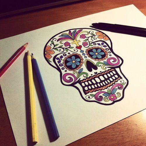 Dibujo día de muertos