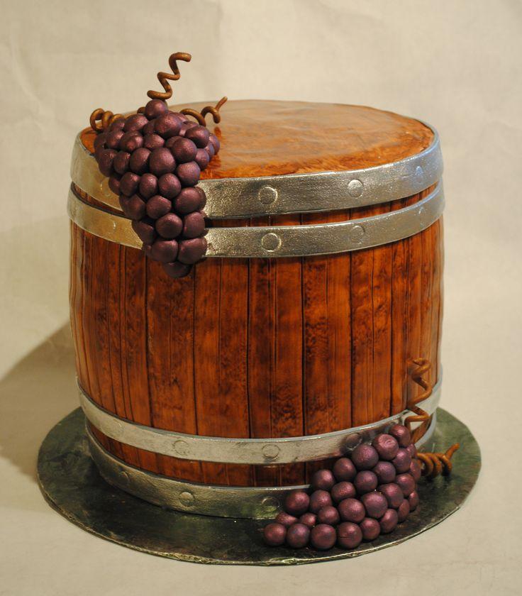 Wine Barrel Fondant Cake