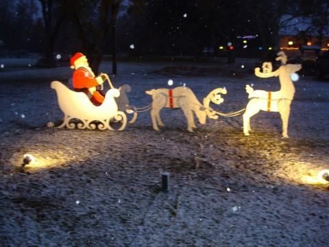 Santa In Sleigh With Reindeer 3d Christmas Yard Artoutdoor