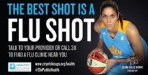 Got your flu shot yet this season? Elena Delle Donne, Da Coach, Sylvia Fowles are teaming up to remind you!