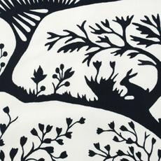 Thomas Paul fabric called Forest by Duralee is graphic and playful