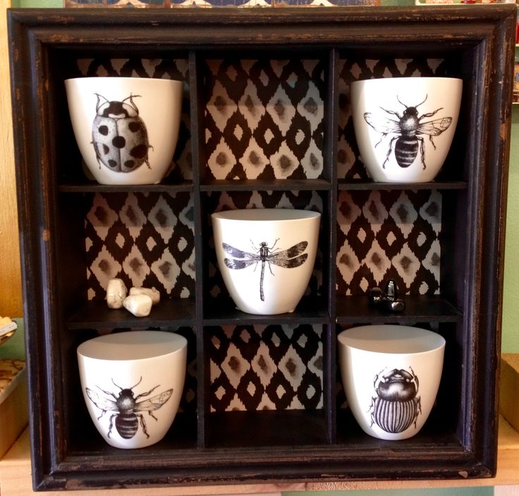 We can't get enough of these insect candle holders!  They are super and in stylish black and white... lovely!