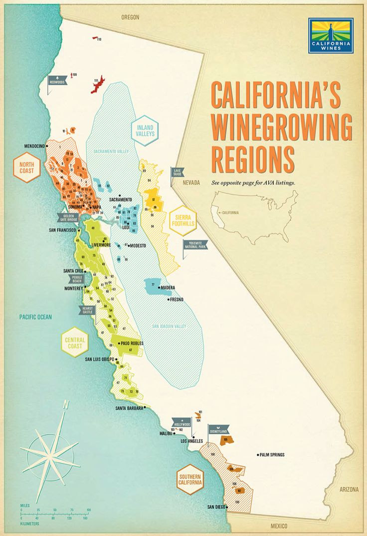 100 ideas to try about wine map wine education for California wine
