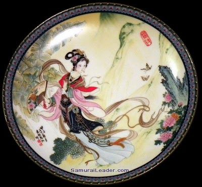 Oriental Imperial Jingdezhen Porcelain Art  # 1 Pao-chai, named also in story: 薛宝钗 or Xue Baochai having the meaning Precious Virtue/
