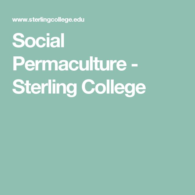 Social Permaculture - Sterling College