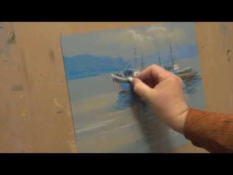 Кораблики.Тон и Цвет в технике пастели,Андрей Кулагин
