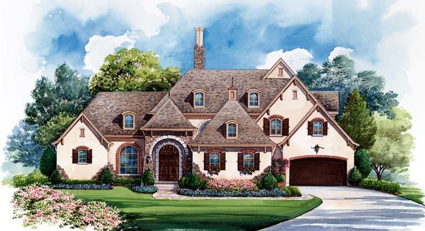 European   House Plan 66435