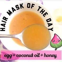 Must try weekly hair conditioning treatment: Egg hair mask with coconut and honey!