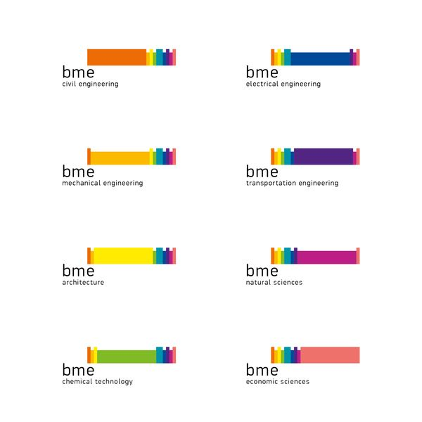 BME / UNIVERSITY LOGO AND PICTOGRAMS REDESIGN by Attila Kovács, via Behance