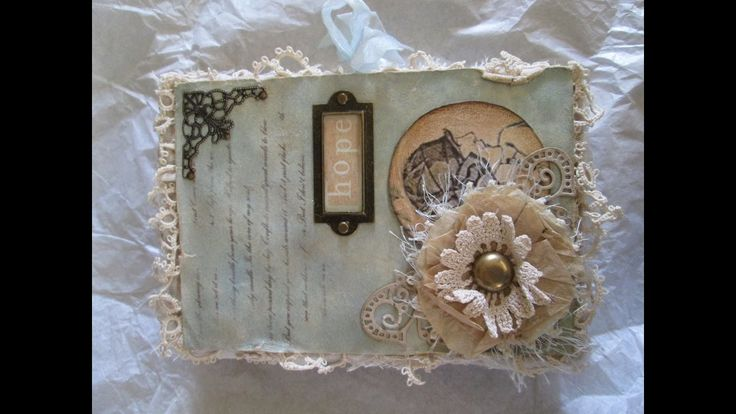 Sweet little Junk Journal ♥ I've tea dyed most of the papers added vintage laces, tuck spots and much more...