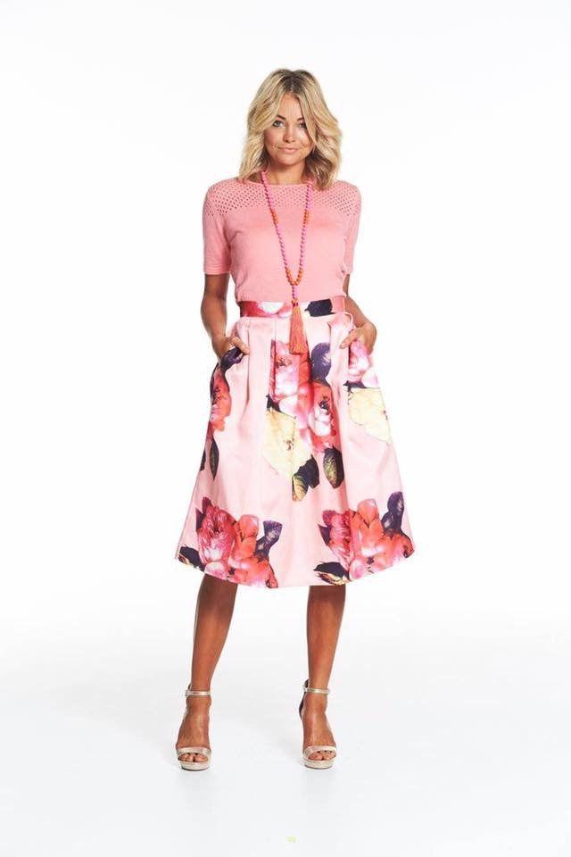 Augustine Peach Perfect Skirt