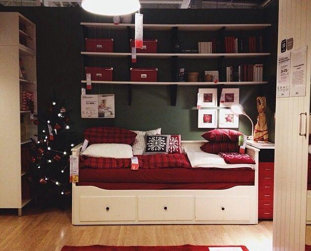 ikea Christmas bedroom decoration, hemnes daybed