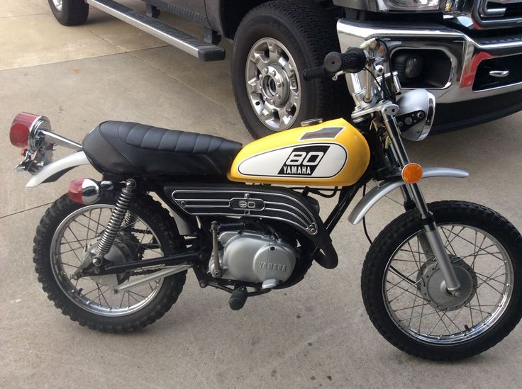 1975 yamaha enduro gt80 complete bike ebay 1976 yamaha. Black Bedroom Furniture Sets. Home Design Ideas