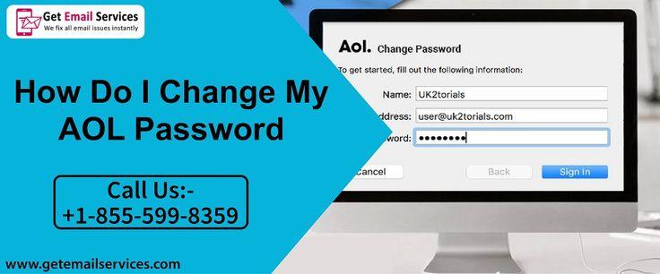 How do i change my aol password 18555998359