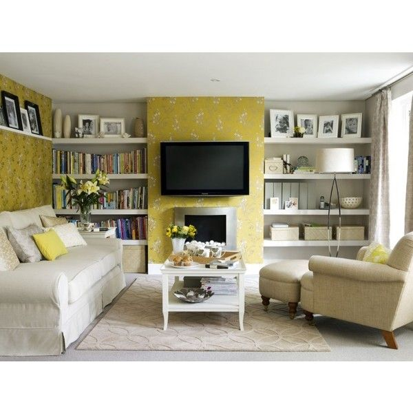 Yellow Room Interior Inspiration 55+ Rooms For Your Viewing Pleasure Found  On Polyvore Part 85