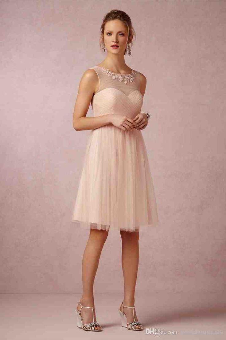 12 best peach bridesmaid dresses images on Pinterest | Prom dresses ...