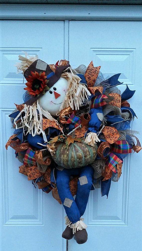 Fall Wreath for Front Door Fall Wreath Fall Door Wreath