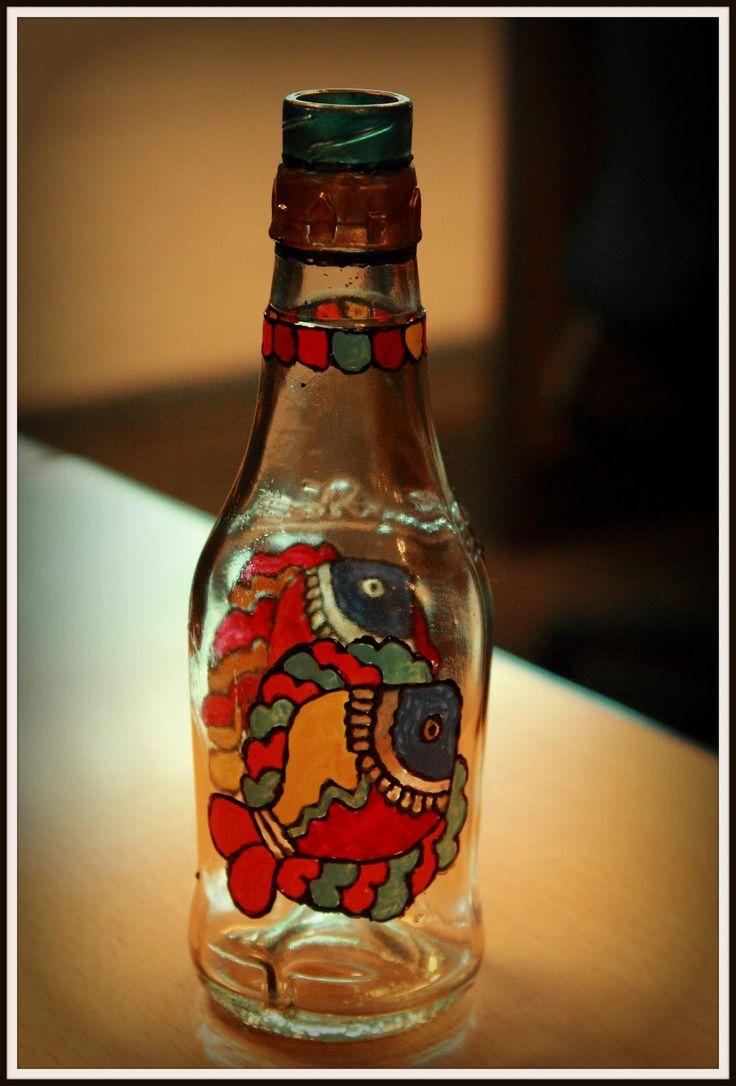 Madhubani Fish on bottle