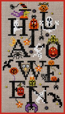 Just Nan - JN233 Halloween Party • Halloween Counted Thread Cross Stitch Designs from Just Nan