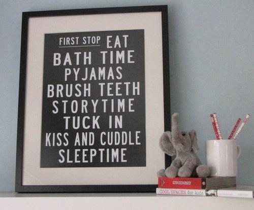 Fresh Bedtime Bus Roll Poster by My Sweet Prints modern kids decor