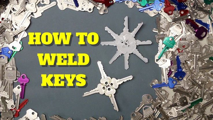 HOW TO WELD KEYS TOGETHER - YouTube