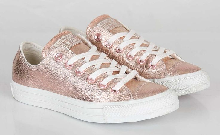 """Converse WMNS Chuck Taylor Ox """"Rose Gold"""". Rose Gold/White 542439C Price: $115"""