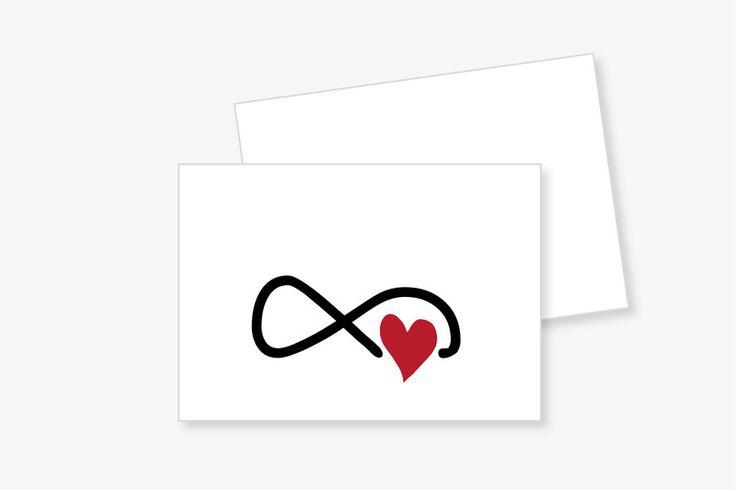 """PostKARTE """"unendliche LIEBE"""" mit Umschlag von Frau B. - PapeterieSHOP auf DaWanda.com"""