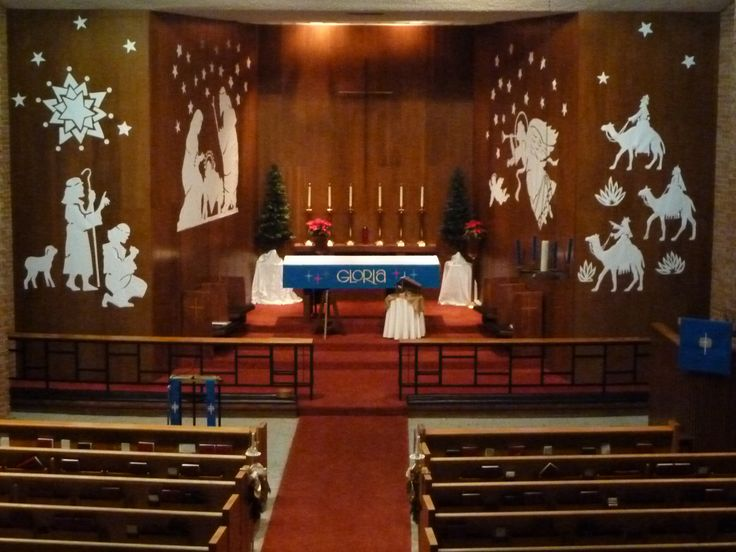 652 best paraments church decor images on pinterest for Christmas church decoration ideas