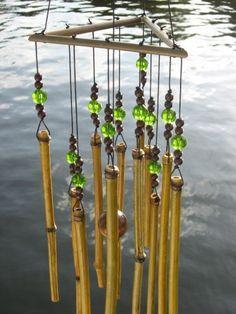 Fresh Asian bamboo wind chimes