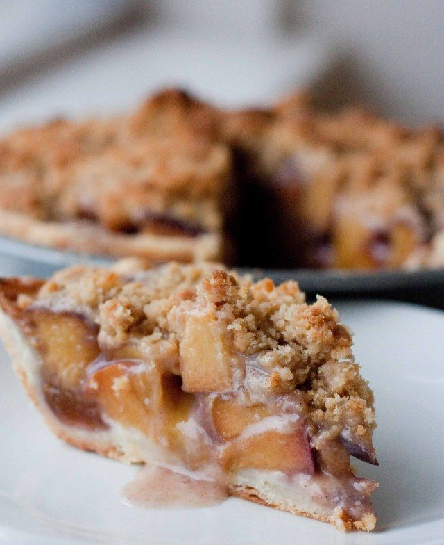 Bourbon Peach Pie with Crumble Topping I used 2 tbsp. of bourbon in ...