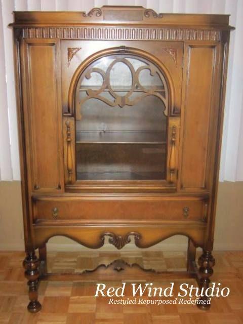 OLD RADIO CABINET ~ Before picture! - 150 Best Radio Cabinets Images On Pinterest Antique Radio, Retro