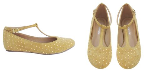 Studded T-Bar flats in tan: Studded Flats, Style, Flat Tan, Color, French Flats, Wear, T Bar Flats, Fun Flats