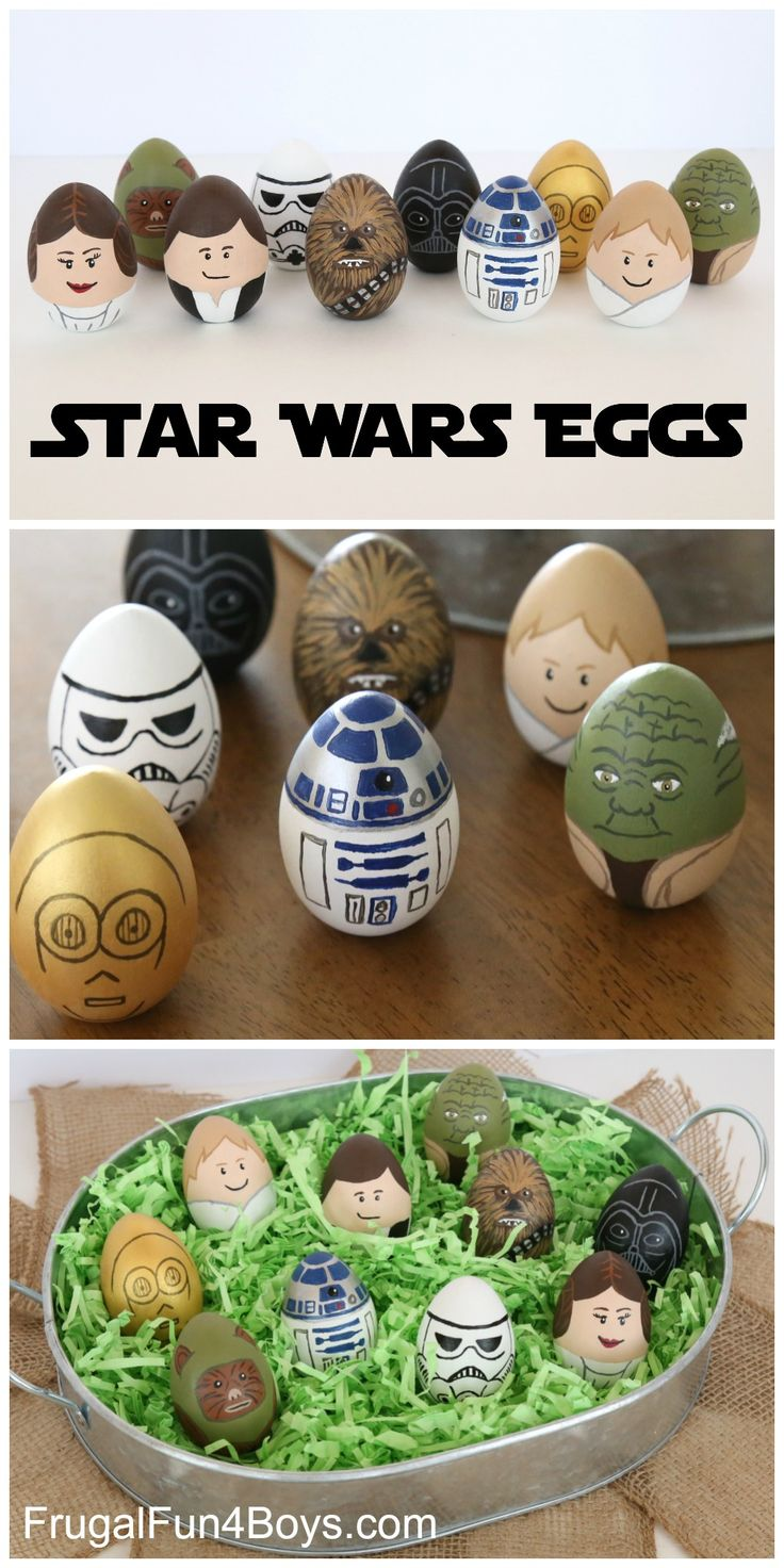 Make Star Wars painted Easter eggs – with wooden eggs! This was a mom project, not a kid project, but honestly it was a nice relaxing break for me.  I figured that if I was going to go to this much trouble, I would use wooden eggs and keep them from year to year. You …