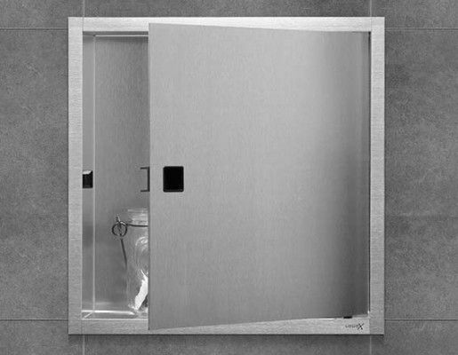 LoooX BoX are ready-made stainless steel recessed alcoves for the shower stall. Simple, easy and beautiful.