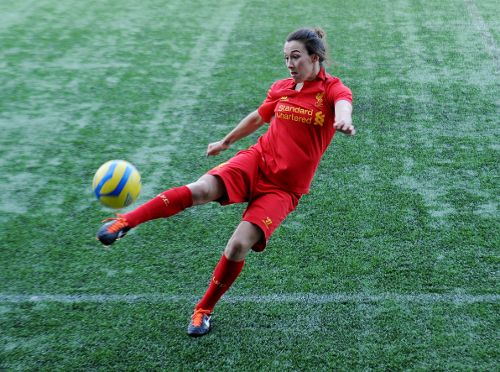 Meet the ladies in red - Liverpool FC  Name: Lucy Bronze  Age: 21  Birth place: Berwick-upon-Tweed  Position: Right-back or centre-back  Date signed: February 2012  Fact: I went to school and used to run with Olympic 1500m finalist Laura Weightman. I once beat her in an 800m race when I had my football boots on!