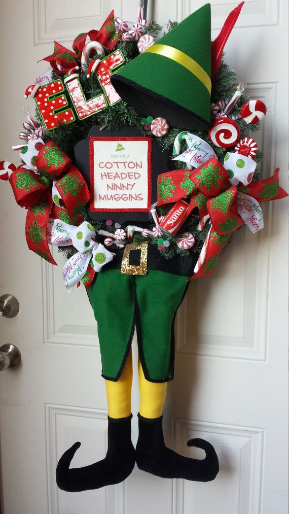Buddy the Elf Christmas Wreath by KBWreaths on Etsy