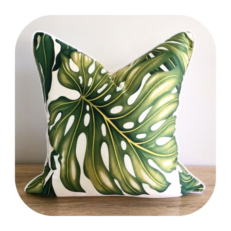 A personal favourite from my Etsy shop https://www.etsy.com/au/listing/481737378/one-cushion-monstera-leaf-tropical