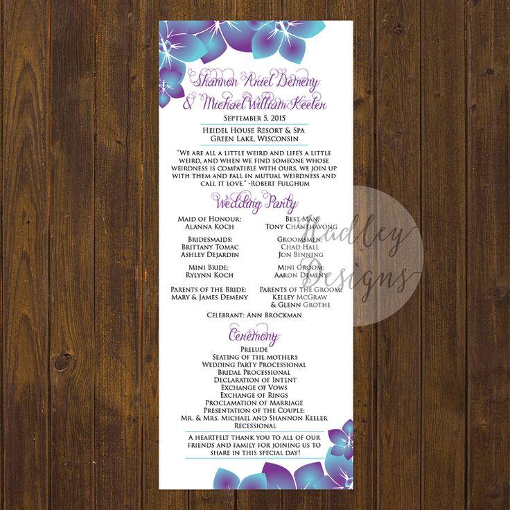The 25+ best Wedding program examples ideas on Pinterest | Wedding ...