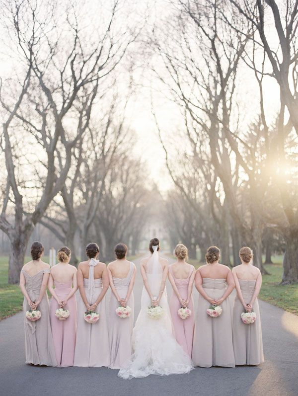 Bridesmaids and bride - love everything about this photo - the colors, light and feeling is divine :)