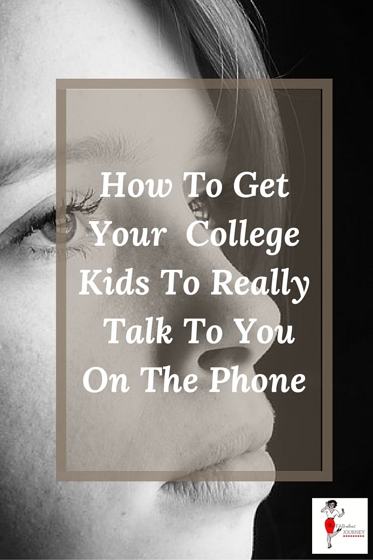how parents can get your college kids to talk to you