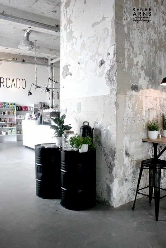 onder de leidingstraat is a deli and cafe in the hip strijp s district of eindhoven with a cool and inviting interior styled by the talented renee arns - Concrete Cafe Interior