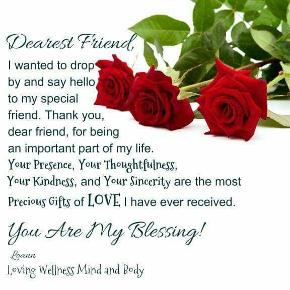 Dearest Friend, You Are My Blessing