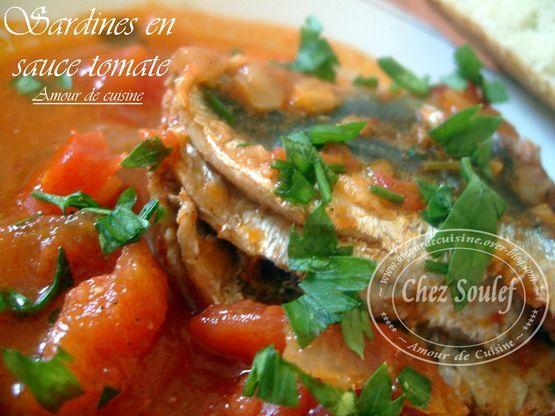 sardines en sauce tomate bonjour tout le monde,  Quand je pars en Algérie, je profite pleinement ...