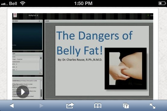 The Dangers of Belly Fat!    http://vimeo.com/46885308  www.teamvisi.com/susan1/