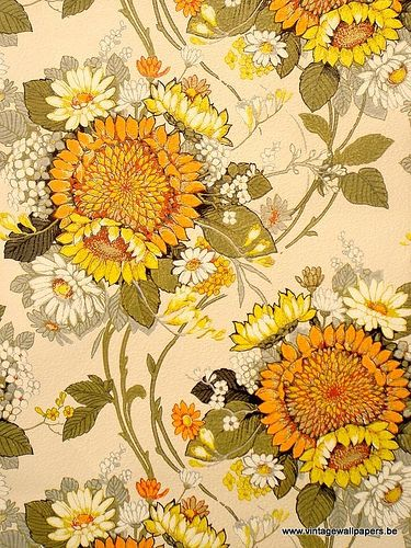 Items Similar To Sunshine Suzy Vintage Original Wallpaper Boho Chic Anthropologie Style Beautiful